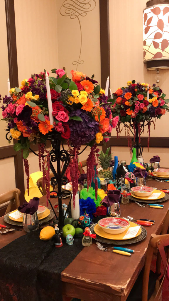dia de los muertos tablescape, day of the dead tablescape