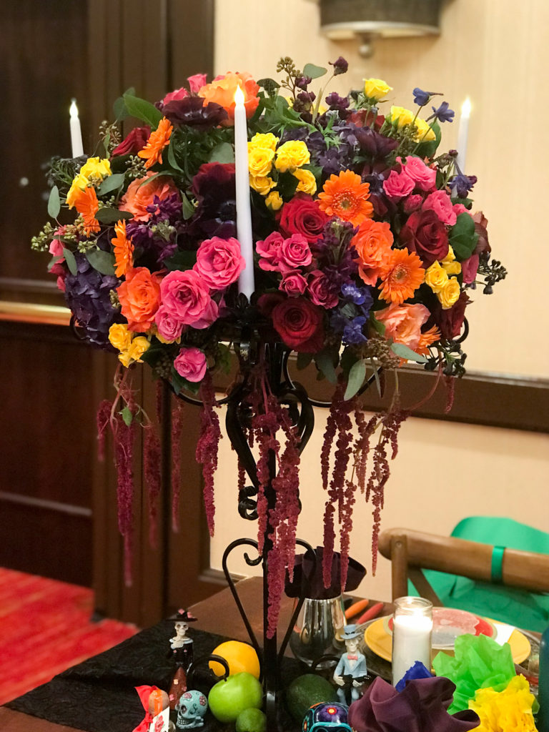 dia de los muertos centerpiece, colorful wedding centerpiece, day of the dead centerpiece