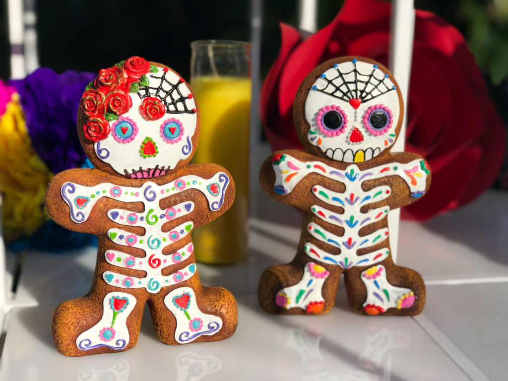 gingerbread sugar skull, day of the dead gingerbread, dia de los muertos gingerbread